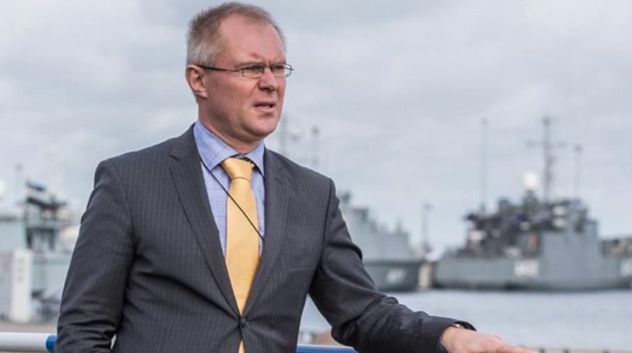 Министр обороны Эстонии Ханнес Хансо. Фотография: Tairo Lutter/postimees.ee