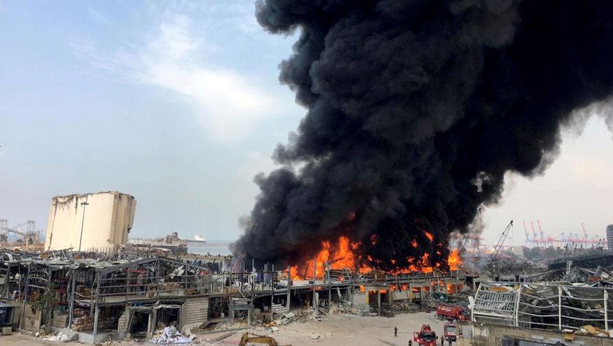 Пожар на складе шин в порту Бейрута, 10 сентября 2020 года