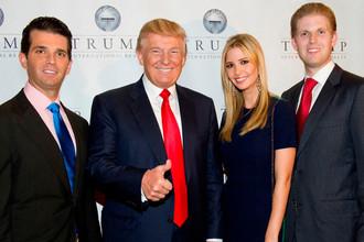 Дональд Трамп с детьми: Дональдом Джоном, Иванкой Мари и Эриком Фредриком
