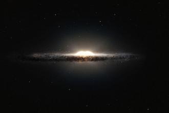 Так выглядит наша Галактика, если смотреть на нее сбоку