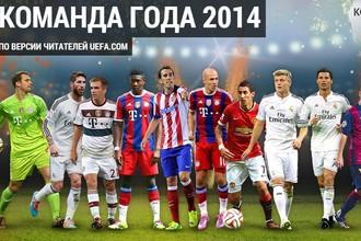 Сборная года по версии читателей сайта УЕФА