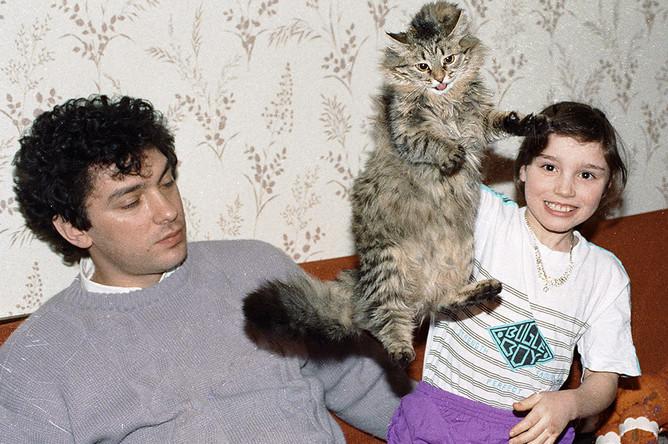 Борис Немцов с дочерью Жанной, 1993 год