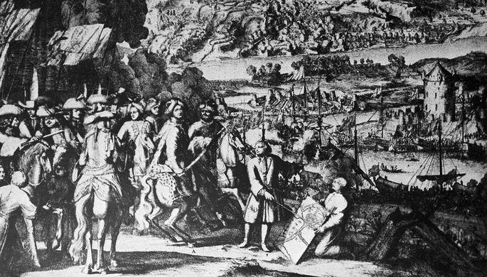 Адриан Шхонебек. «Взятие города Азова». 1696 год