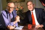 Ларри Кинг и кандидат впрезиденты США Джордж Буш, 1999 год