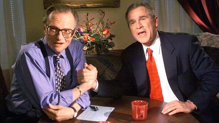 Ларри Кинг и Джордж Буш