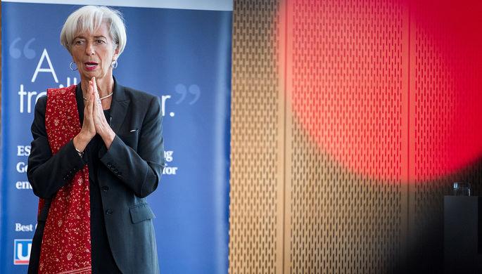 Директор-распорядитель МВФ Кристин Лагард во время лекции в Берлине, 10 апреля 2017 года