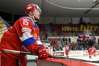 Сборная России на чешской этапе хоккейного Евротура.