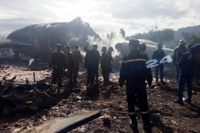Последствия крушения военно-транспортного самолета Ил-76 Минобороны Алжира, 11 апреля 2018 года