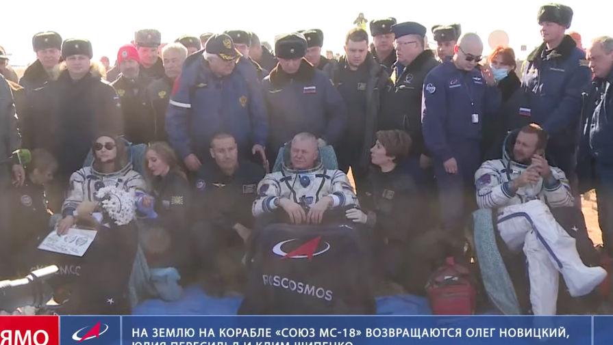 Врач Шипенко и Пересильд рассказал о реабилитации киноэкипажа после съемок на МКС