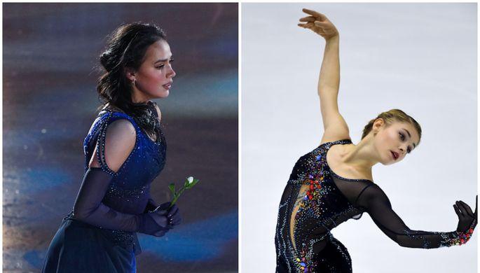 Алина Загитова и Алена Косторная