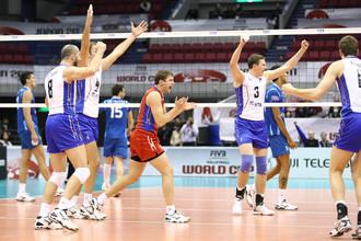 Российские волейболисты обыграли аргентинцев