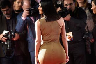 Ким Кардашьян во время кинопремьеры в Лос-Анджелесе, 2017 год