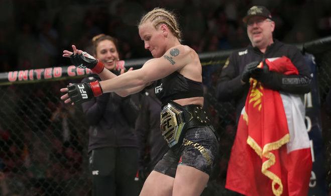 Боец UFC Валентина Шевченко после победы над Джессикой Ай