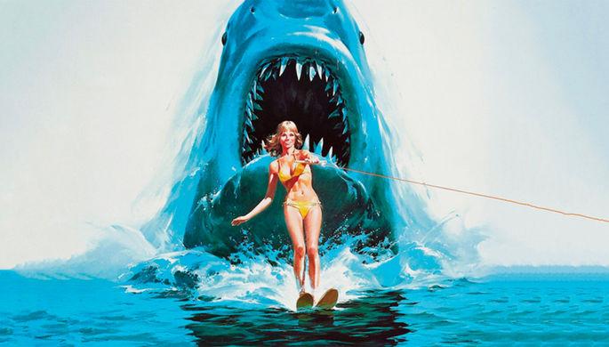 Фрагмент постера к фильму «Челюсти 2», 1978 год