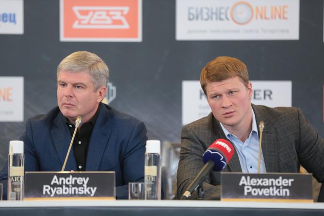 В Москве состоялась официальная пресс-конференция Александра Поветкина, Дениса Лебедева и Мариуша Ваха.