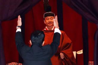 Премьер-министр Японии Синдзо Абэ во время церемонии интронизации императора Нарухито в Токио, 22 октября 2019 года