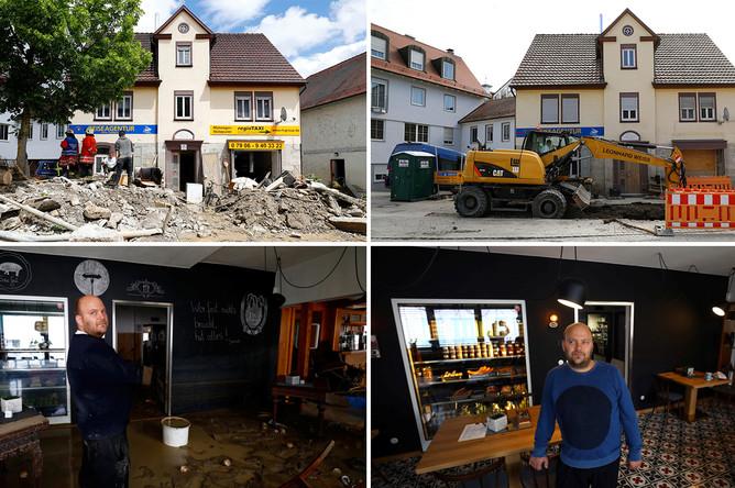 Коммуна Браунсбах 30 мая 2016 года и 29 мая 2017 года, коллаж