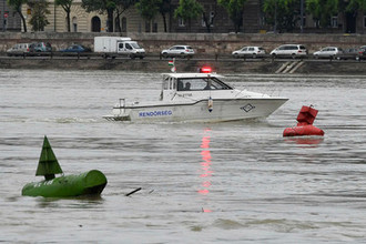 Во время спасательной операции в Будапеште, 30 мая 2019 года