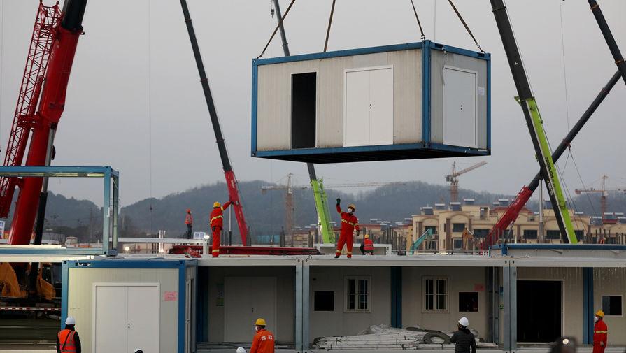 Строительство госпиталя в Ухане, 30 января 2020 года