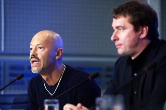 Глава совета директоров режиссер Федор Бондарчук и генеральный директор киностудии «Ленфильм» Эдуард Пичугин