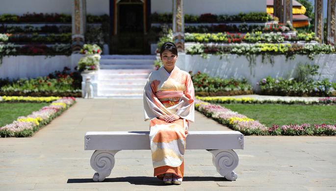 Принцесса Японии Мако в Бутане, 2017 год
