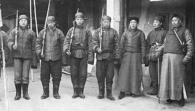 Солдаты бурят-монгольского полка Азиатской конной дивизии