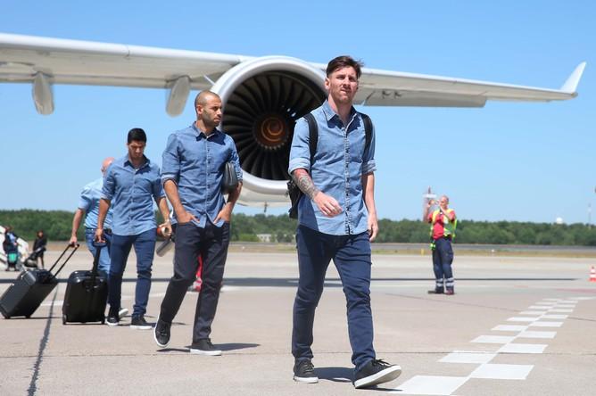 «Барселона» прибыла в Берлин