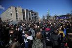 В Москве на несанкционированной акции задержали около 500 человек