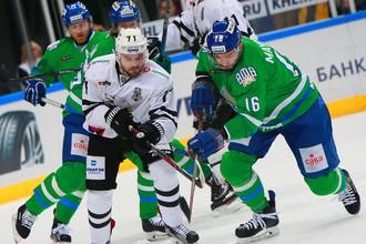 Матч Кубка Гагарина по хоккею «Салават Юлаев» — «Трактор»