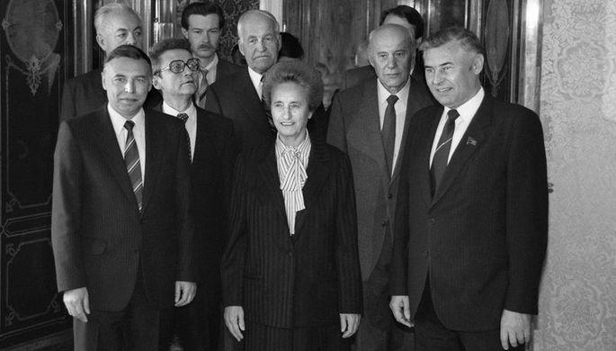 Елена Чаушеску во время визита в СССР, 1988 год