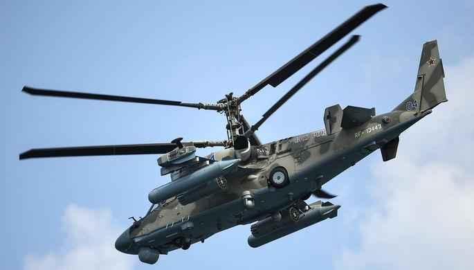Ударный вертолет Ка-52 «Аллигатор» на параде в честь Дня Военно-морского флота в Севастополе, 2020 год