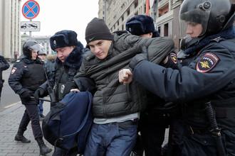 Задержания на Манежной площади, 5 ноября 2017