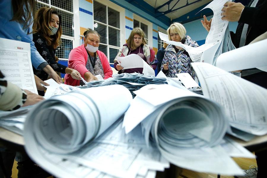 Подсчет голосов поитогам выборов депутатов Государственной Думы РФ, 19 сентября 2021 года