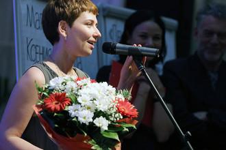 Писатель Анна Старобинец во время церемонии вручения премии «Национальный бестселлер» в Санкт-Петербурге, 2014 год