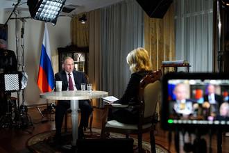 Интервью журналисту американского телеканала NBC Мегин Келли 1 марта 2018 года