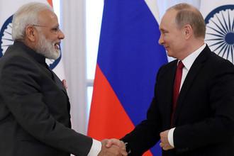 Премьер-министр Индии Нарендра Моди и президент России Владимир Путин, 2017 год