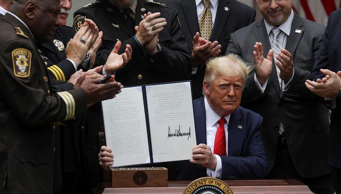«Это большой шаг»: Трамп реформирует полицию