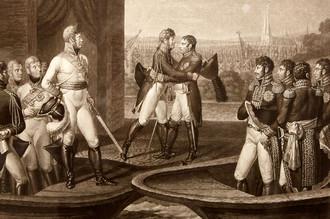 Заключение Тильзитского мира в 1807 году
