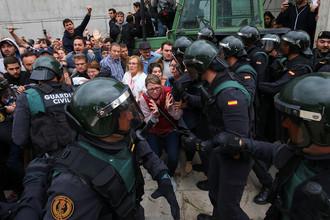 Протесты на улицах Барселоны, 1 октября 2017