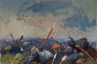 «Сватов напоили, а сами полегли за землю Русскую. Иллюстрация к «Слову о полке Игореве» , 1957-1962