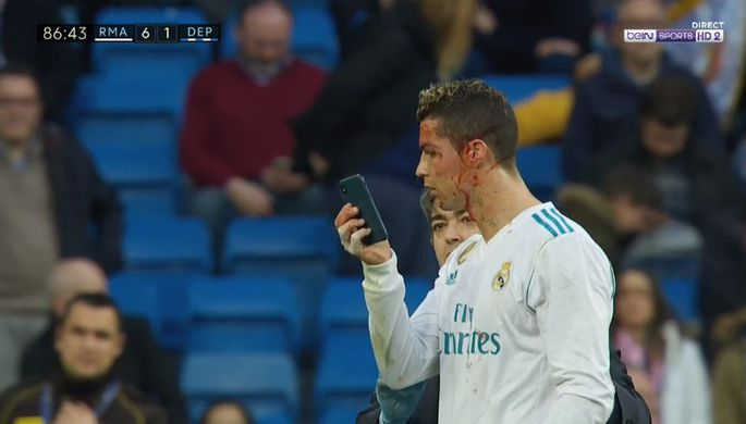Нападающий «Реала» Криштиано Роналду