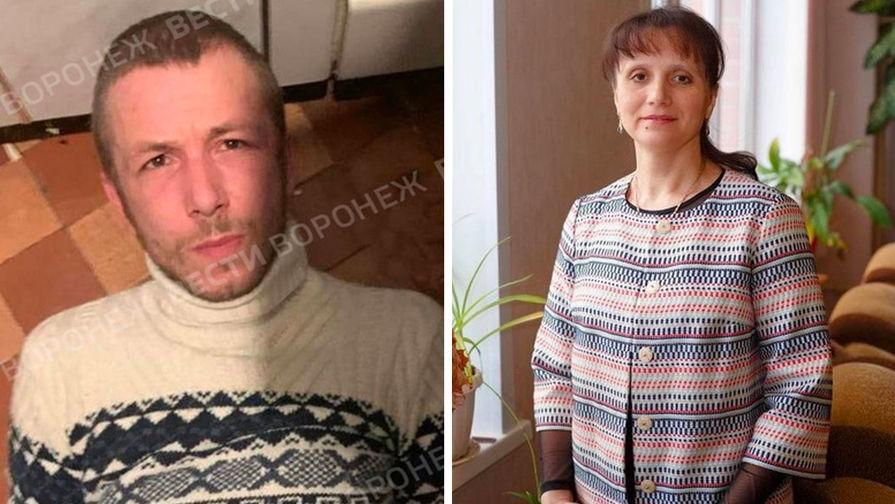 31-летний уроженец Луганска подозреваемый в убийстве учительницы математики Натальи Тушинской (коллаж)