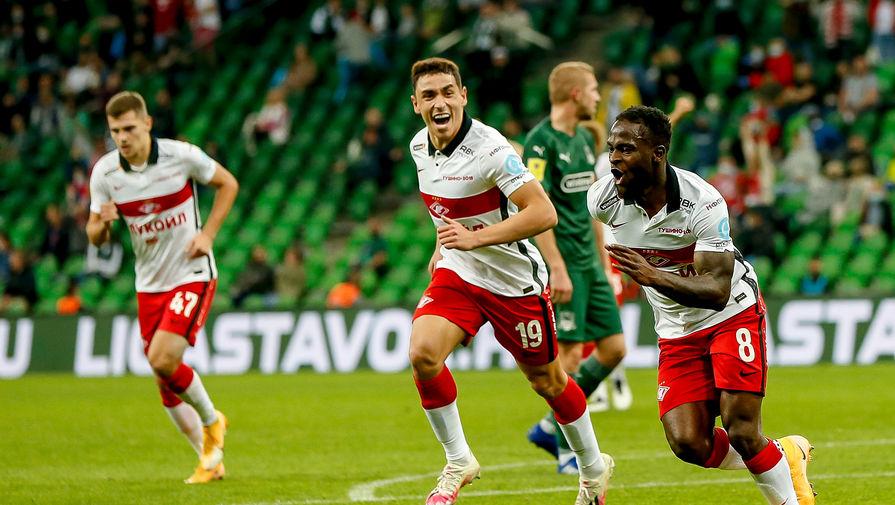 Виктор Мозес празднует гол за «Спартак»