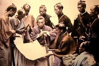 Редкая фотография самураев эпохи Мэйдзи