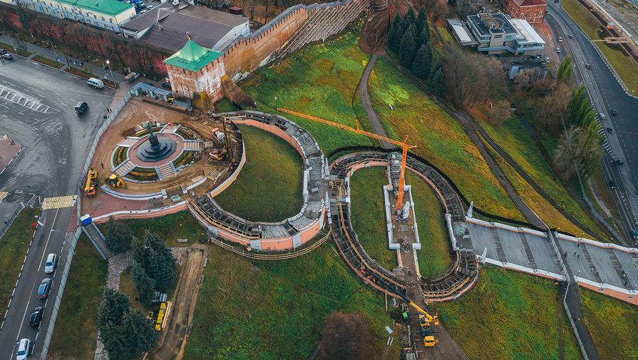 Реставрация Чкаловской лестницы