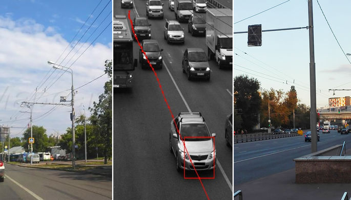 Автомобилистов оштрафовали за виртуальную полосу