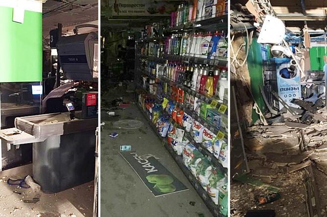 Последствия взрыва в супермаркете в Санкт-Петербурге, 27 декабря 2017 года