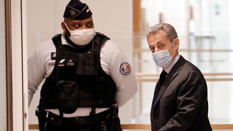 Экс-президент Франции Николя Саркози в парижском суде, ноябрь 2020 года