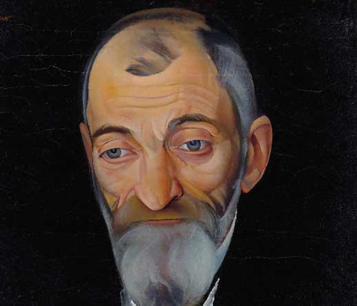 Лев Шестов. Портрет. Автор — Борис Григорьев