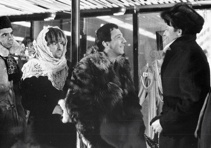 Раднэр Муратов, Георгий Вицин и Савелий Крамаров в фильме «Джентльмены удачи», 1971 год